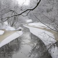 Stará řeka v zimě