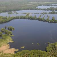 PR Staré Jezero - letecký snímek