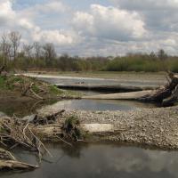 Štěrkové náplavy řeky Bečvy u Černotína