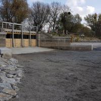 Stavba bezpečnostního přelivu na Mlýnském rybníce