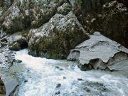 Propast Macocha - Vývěr vod do Jalového koryta na dně Macochy