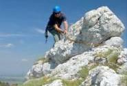 Monitoring hvozdíku lumnitzerova na skalách v Soutěsce - slaňování | Autor: Jiří Kmet
